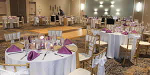 Decorated wedding hall