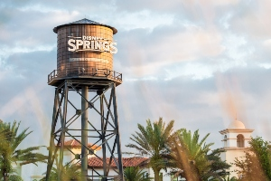 Water tower at Disney Springs, a free entertainment dining and shopping complex at Walt Disney World